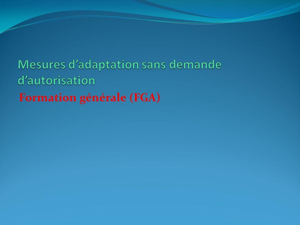 Formation générale (FGA)