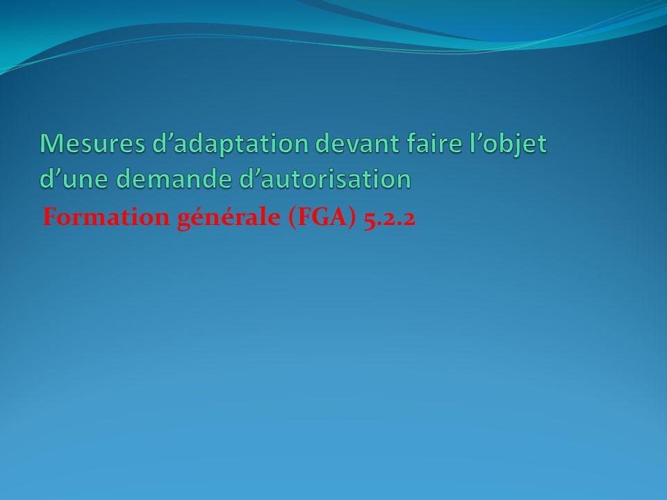 Formation générale (FGA) 5.2.2