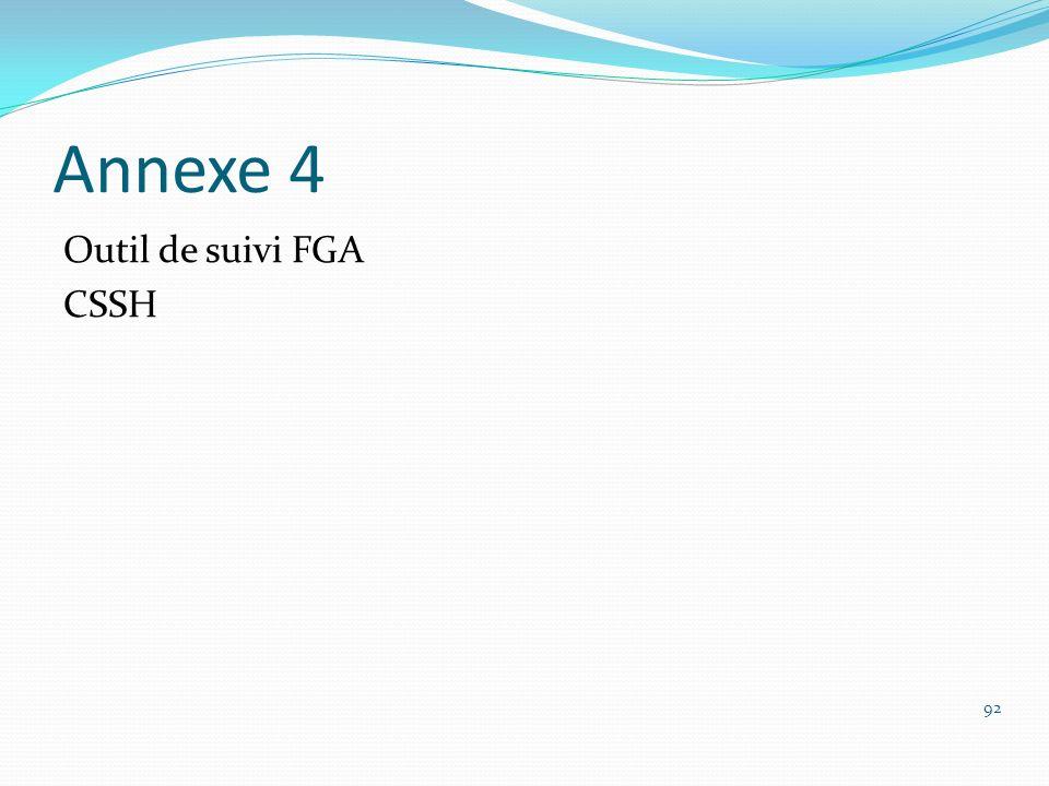 Annexe 4 Outil de suivi FGA CSSH 92
