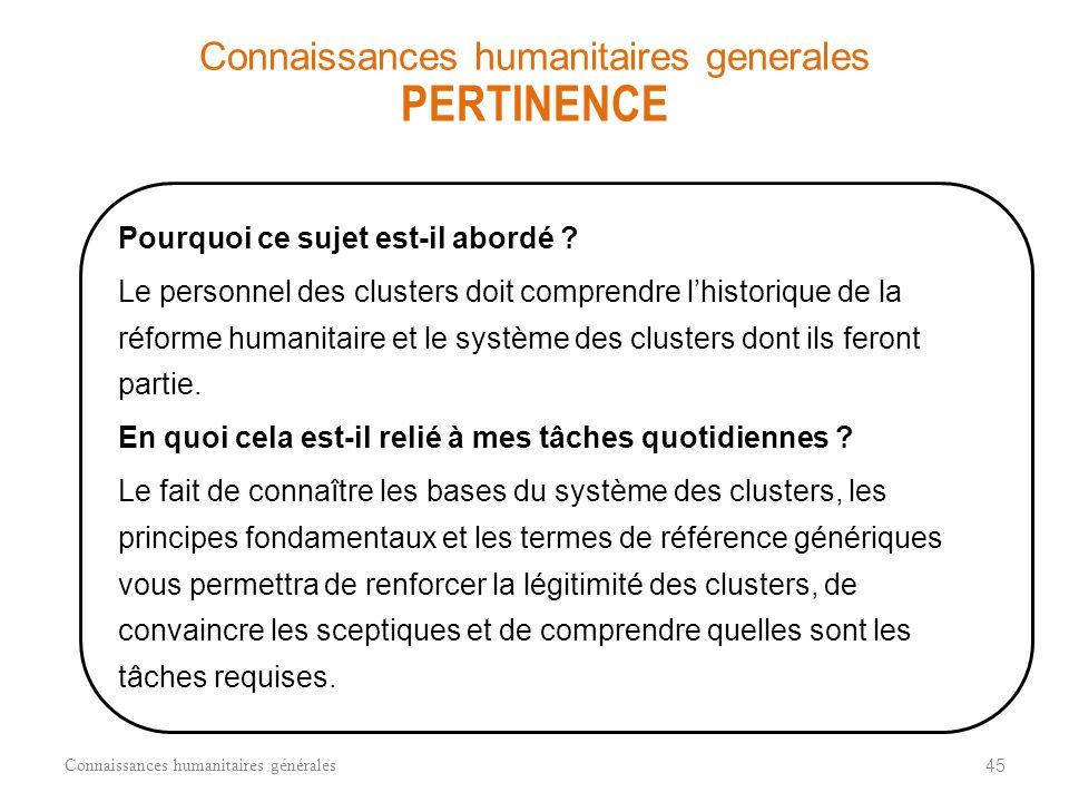 STRUCTURE DE LA COORDINATION HUMANITAIRE = Coordination GOUVNT NATIONAL Ministère sectoriel MINISTÈRE SECTORIEL N ATIONAL LEVEL Equipe humanitaire nat
