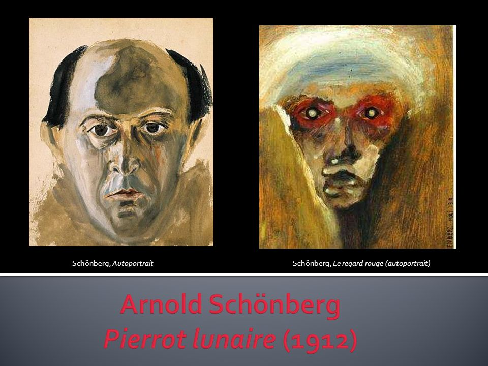Schönberg, Autoportrait Schönberg, Le regard rouge (autoportrait)