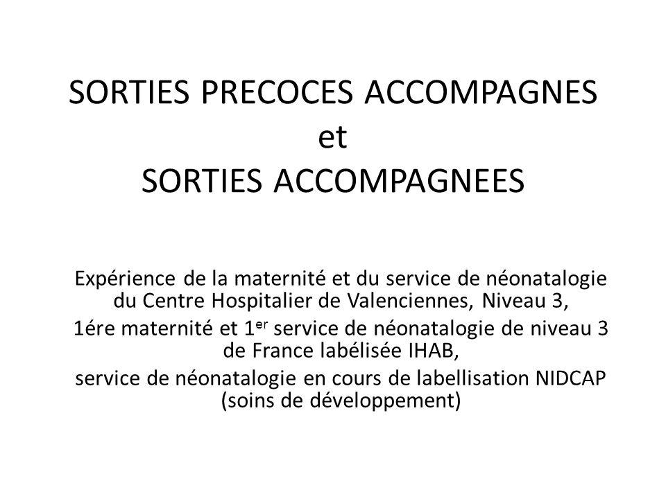 SORTIES PRECOCES ACCOMPAGNES et SORTIES ACCOMPAGNEES Expérience de la maternité et du service de néonatalogie du Centre Hospitalier de Valenciennes, N