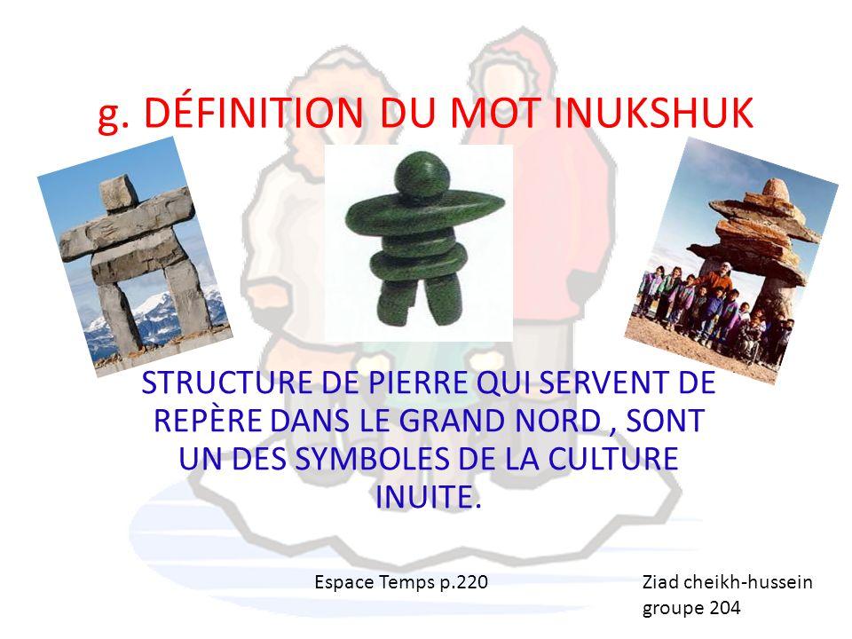 H- Définition du mot: Inuktitut Une des trois langues officielles du territoire du Nunavut Langue ancestrale des Inuits Par: Kenny D.