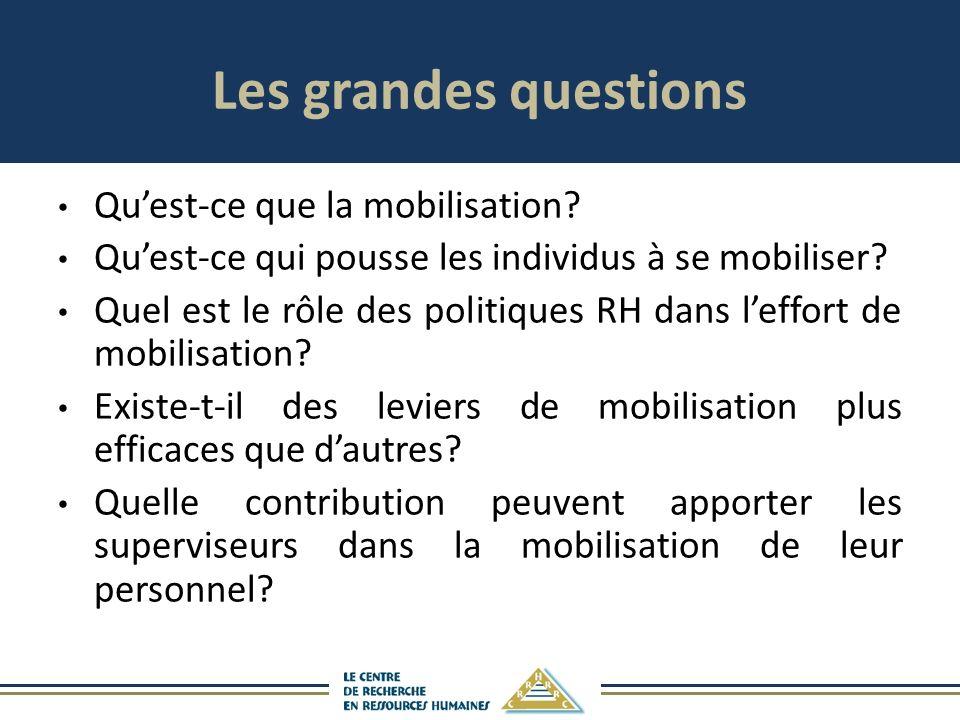 Les grandes questions Quest-ce que la mobilisation.