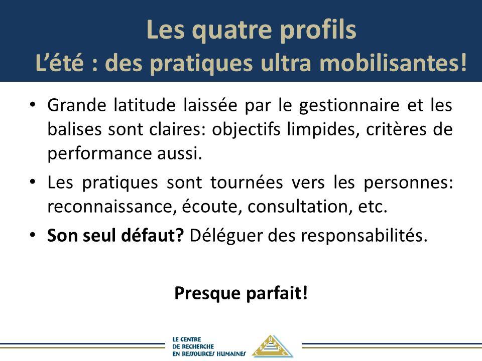 Les quatre profils Lété : des pratiques ultra mobilisantes.