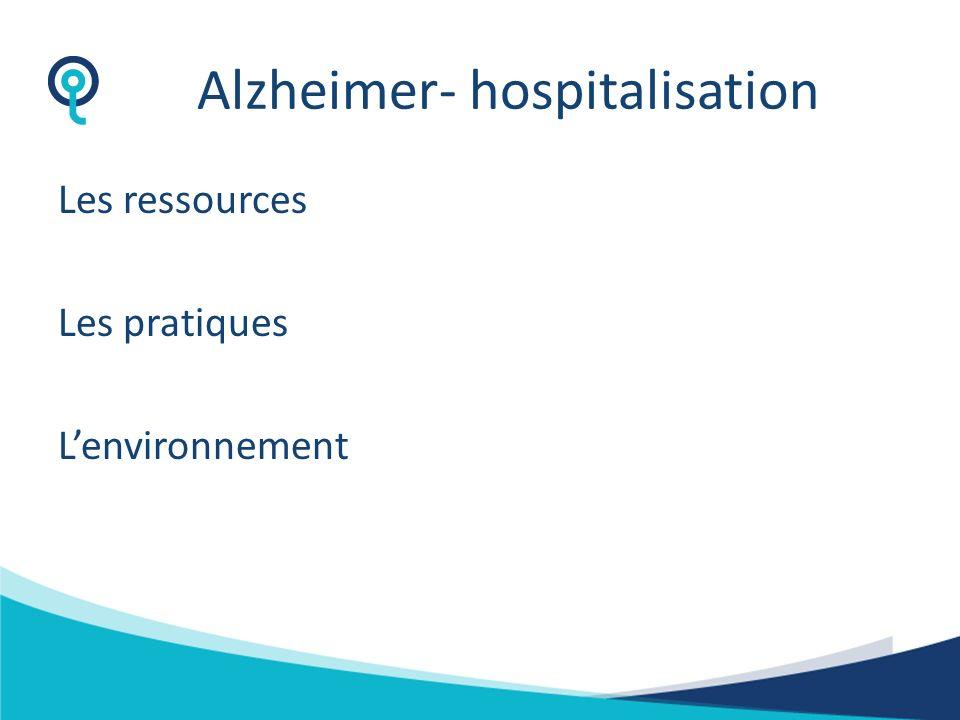 Alzheimer: Risques accrus/Déambulation 4 éléments essentiels reconnus en clinical best practice pour les patients à risque de déambulation: -Idenifier