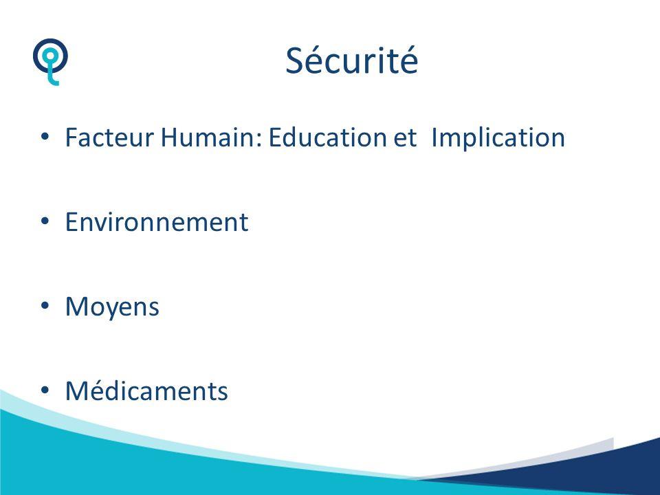 Sécurité et qualité des soins Recommandations Certification et accréditation Information et éducation Implication du malade dans ses soins Différentes