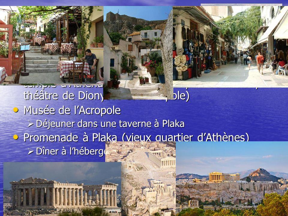 Agora Agora Site de lAcropole (Porte Beulé, les Propylées, temple dAthéna Niké, Parthénon, lErechthéion, théâtre de Dionysos et lAcropole) Site de lAc