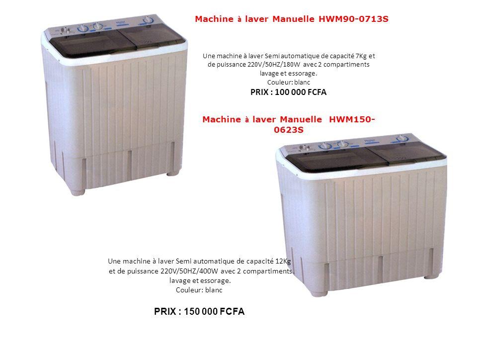 Machine à laver Manuelle HWM90-0713S Une machine à laver Semi automatique de capacité 7Kg et de puissance 220V/50HZ/180W avec 2 compartiments lavage e