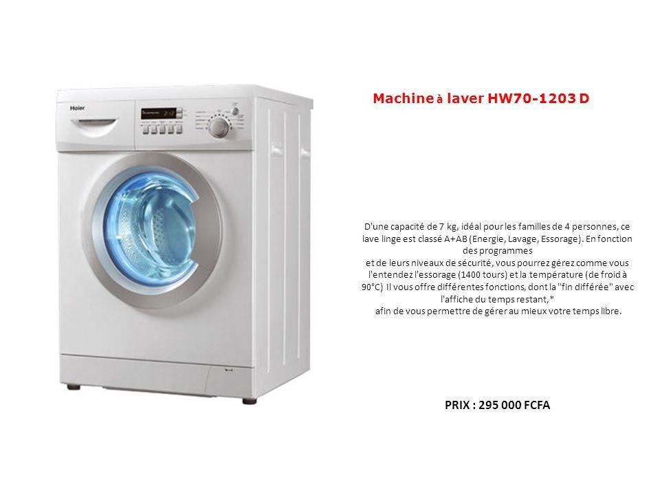 Machine à laver HW70-1203 D D'une capacité de 7 kg, idéal pour les familles de 4 personnes, ce lave linge est classé A+AB (Energie, Lavage, Essorage).