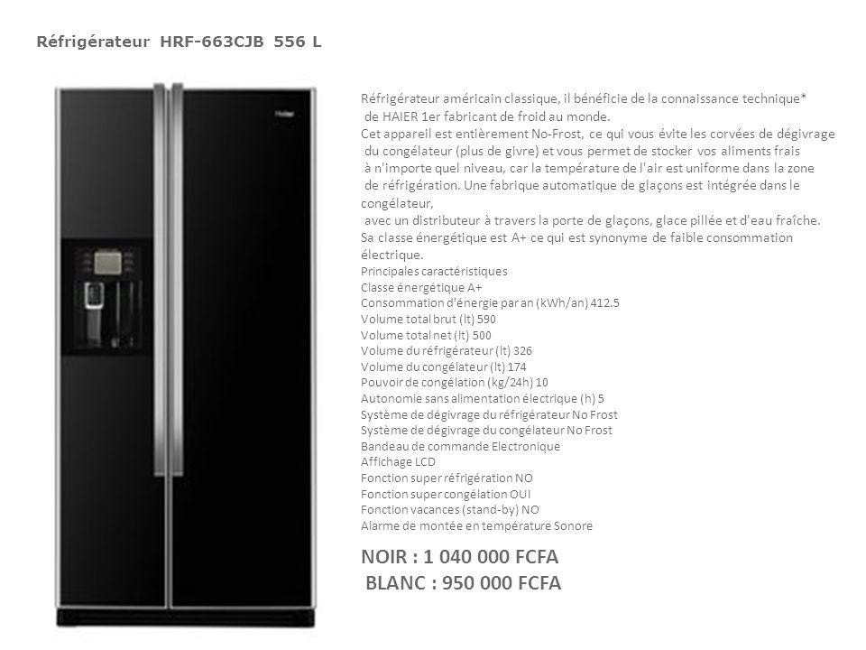Réfrigérateur HRF-663CJB 556 L Réfrigérateur américain classique, il bénéficie de la connaissance technique* de HAIER 1er fabricant de froid au monde.