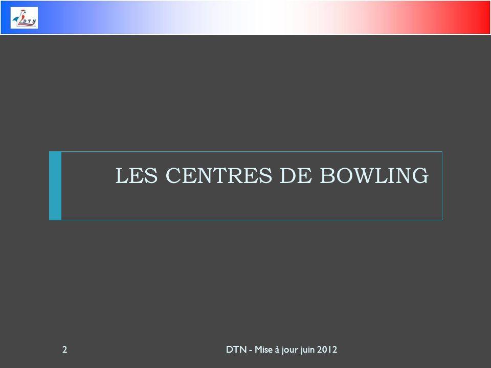 LES CENTRES DE BOWLING DTN - Mise à jour juin 20122
