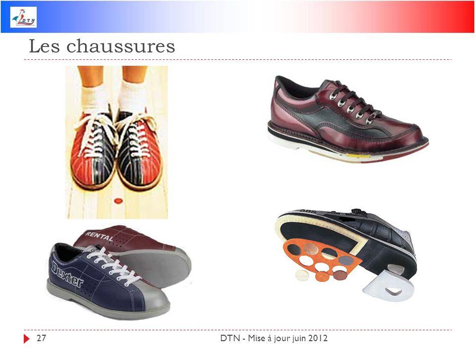 Les chaussures DTN - Mise à jour juin 201227