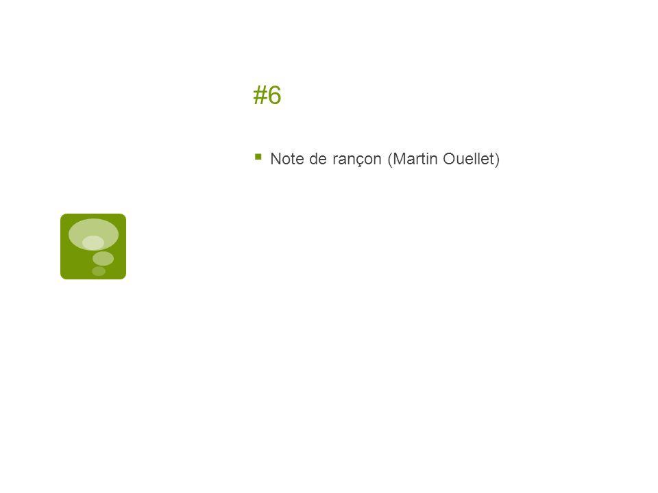 #6 Note de rançon (Martin Ouellet)
