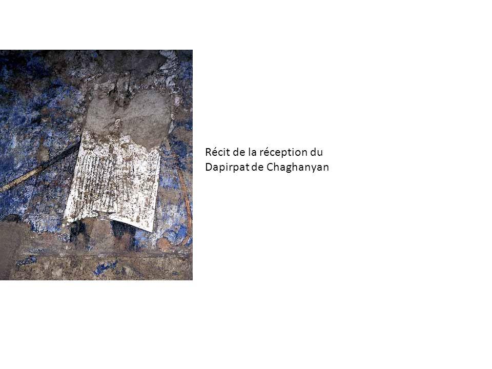 Chashma Ayub, wabkent, 1208 Le Pishtaq de ce hazira-cénotaphe reprend les éléments déjà observé sur le pishtaq de la mosquée magok, larche brisée afaissée nest pourtant pas contourée de frise, mais son intrados est voûté, à la manière dune arche dangle samanide, abec un décor de muqarnas de céramique.