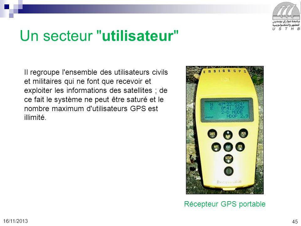 45 16/11/2013 Un secteur