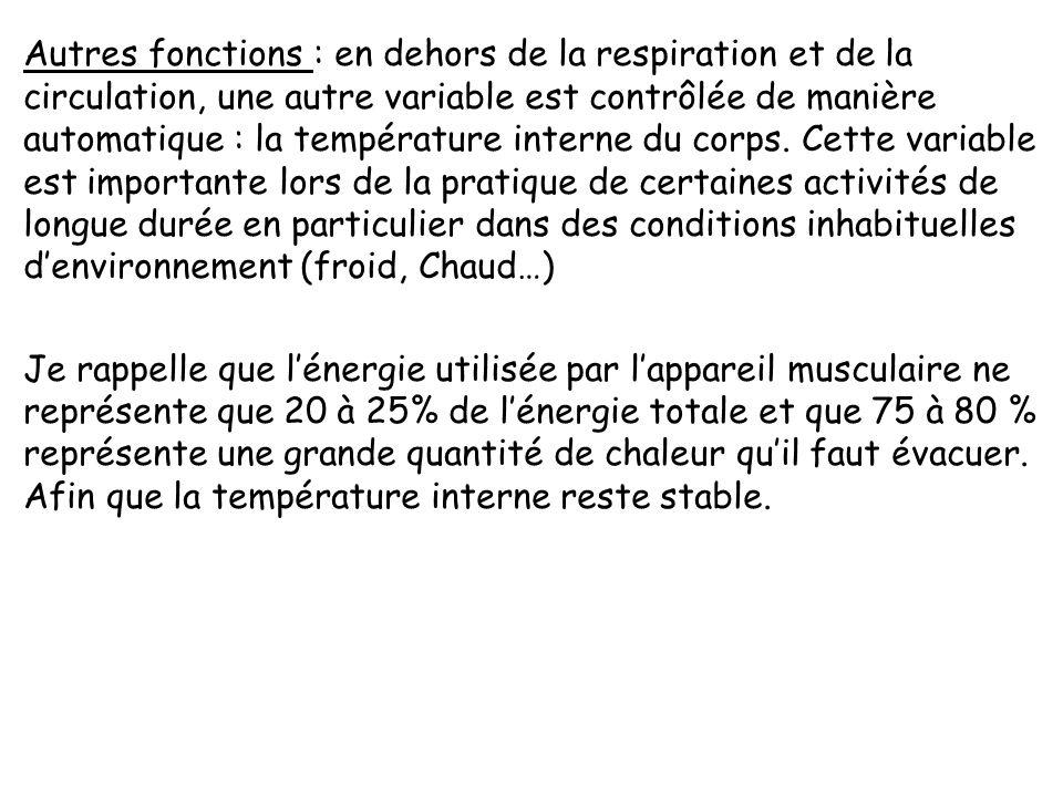 -régulation du fonctionnement de lappareil circulatoire : elle seffectue par action sur trois facteurs : débit, pression, résistances périphériques. L