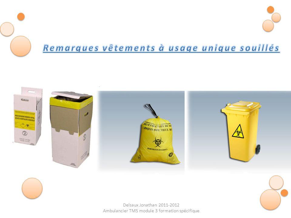 Delsaux Jonathan 2011-2012 Ambulancier TMS module 3 formation spécifique