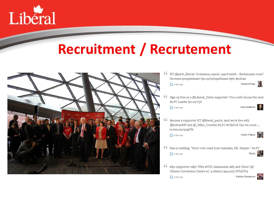 Recruitment / Recrutement