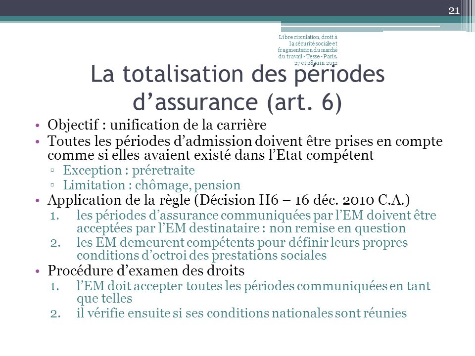 Lexportation des prestations (art.