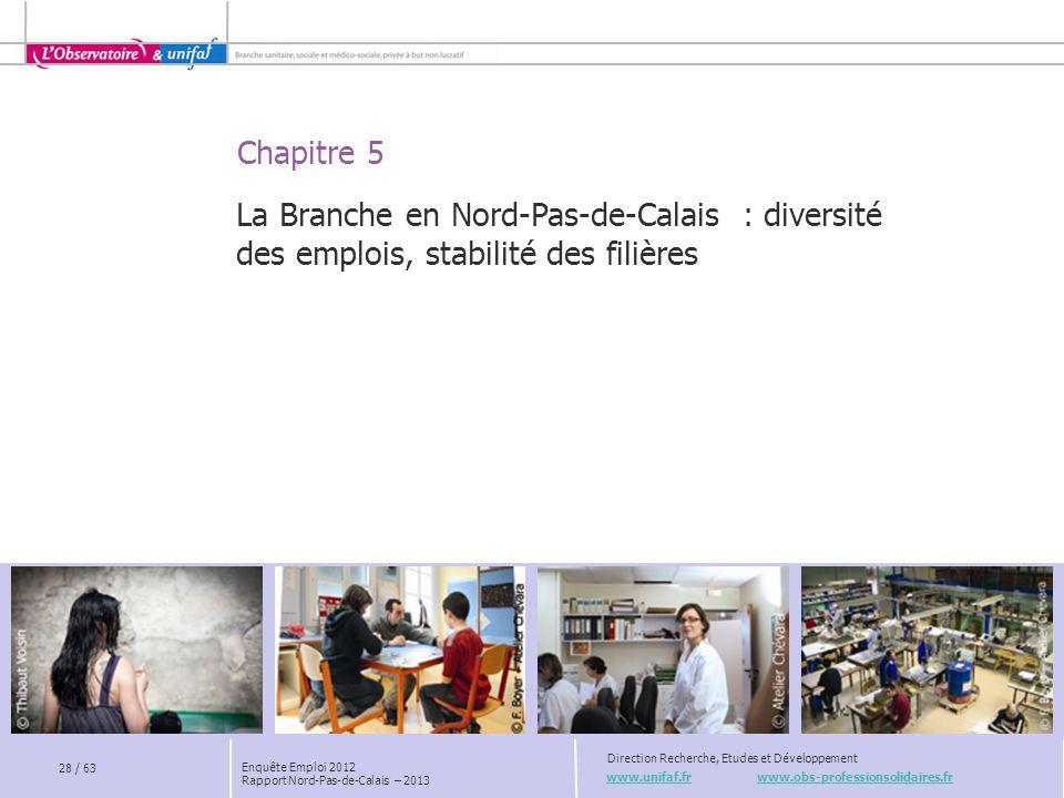 Chapitre 5 www.unifaf.fr www.obs-professionsolidaires.fr Direction Recherche, Etudes et Développement La Branche en Nord-Pas-de-Calais : diversité des