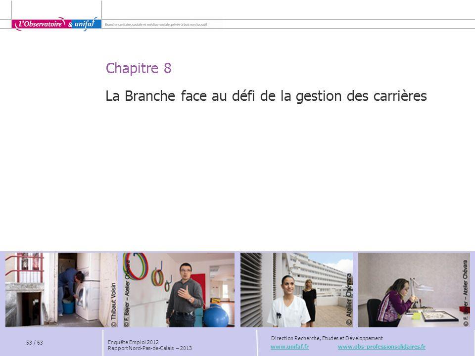 Chapitre 8 www.unifaf.fr www.obs-professionsolidaires.fr Direction Recherche, Etudes et Développement Enquête Emploi 2012 Rapport Nord-Pas-de-Calais –