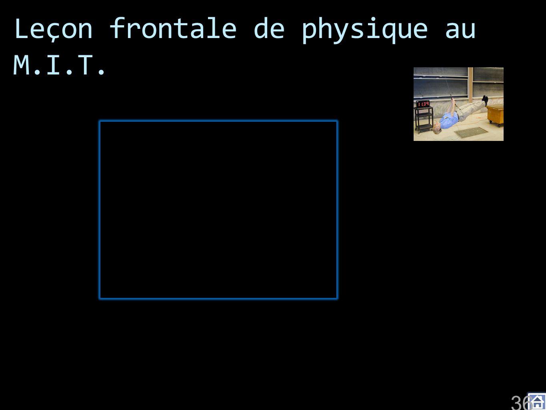 Leçon frontale de physique au M.I.T. 36