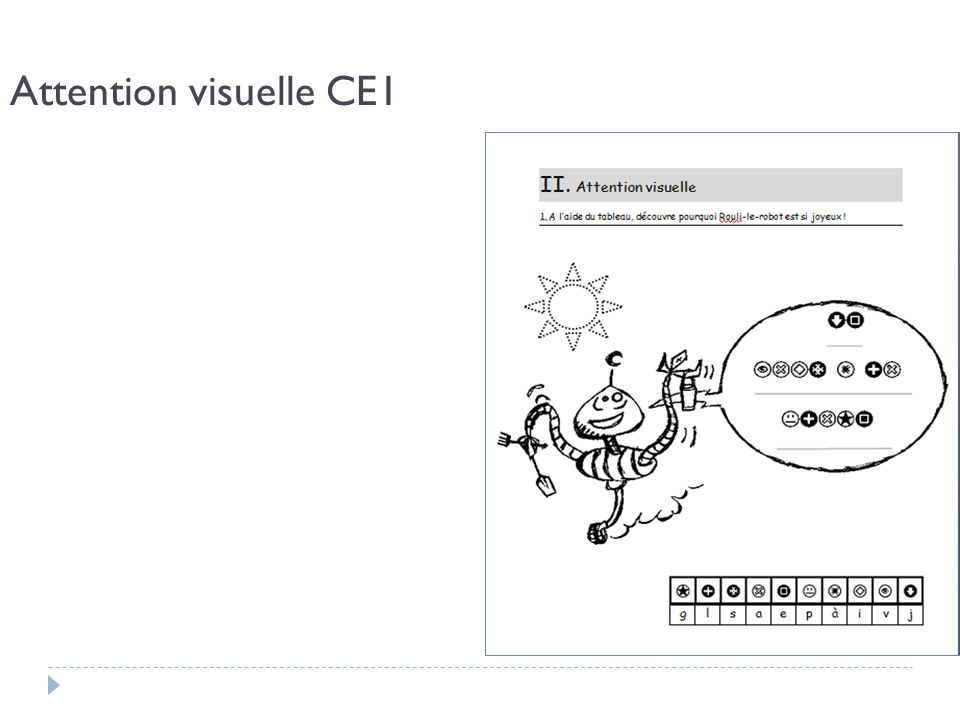 Attention visuelle CE1
