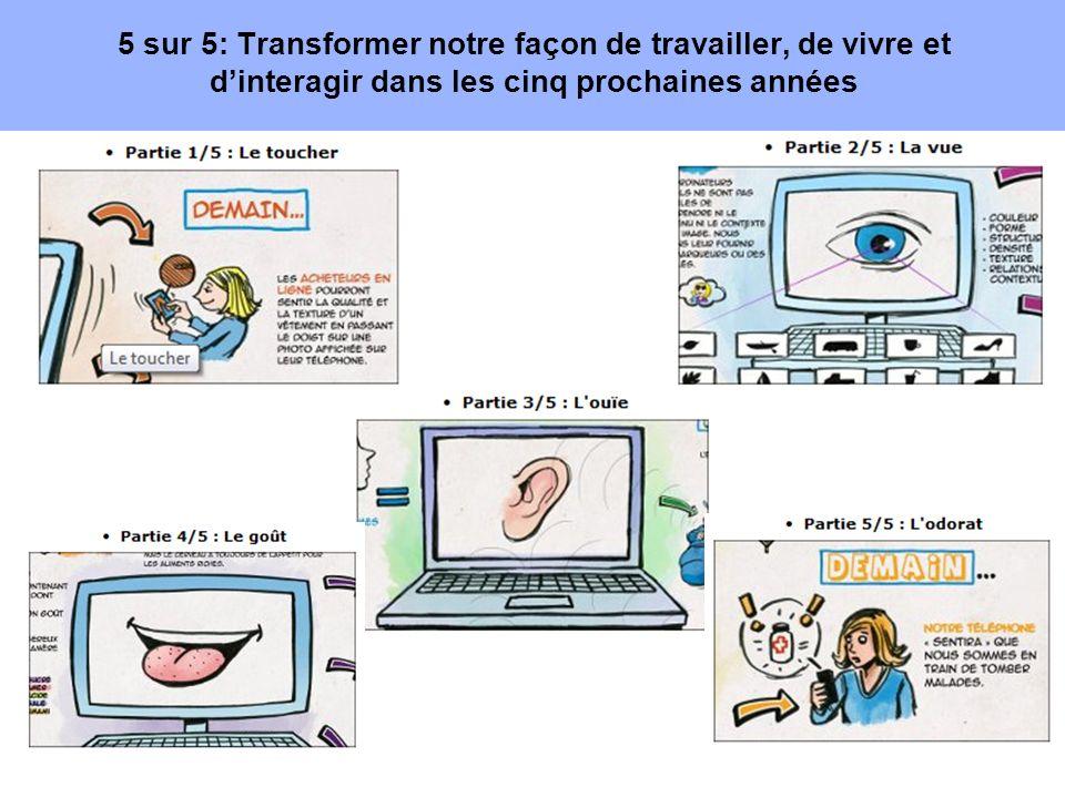 5 sur 5: Transformer notre façon de travailler, de vivre et dinteragir dans les cinq prochaines années