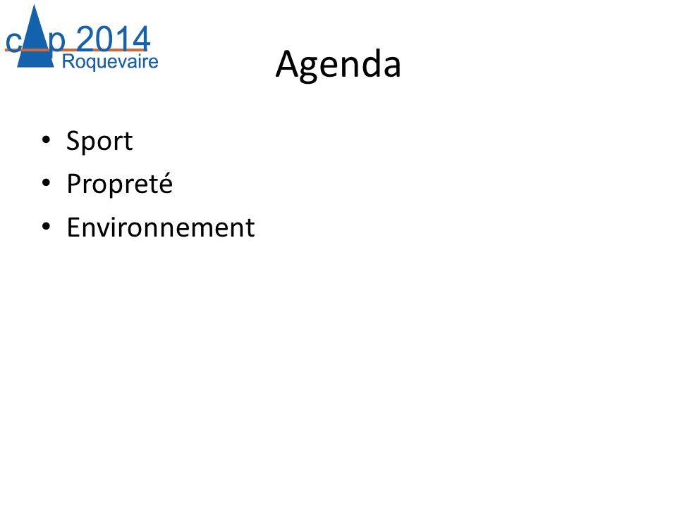 Agenda Sport Propreté Environnement