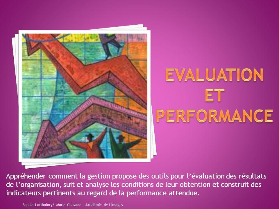 Appréhender comment la gestion propose des outils pour lévaluation des résultats de lorganisation, suit et analyse les conditions de leur obtention et