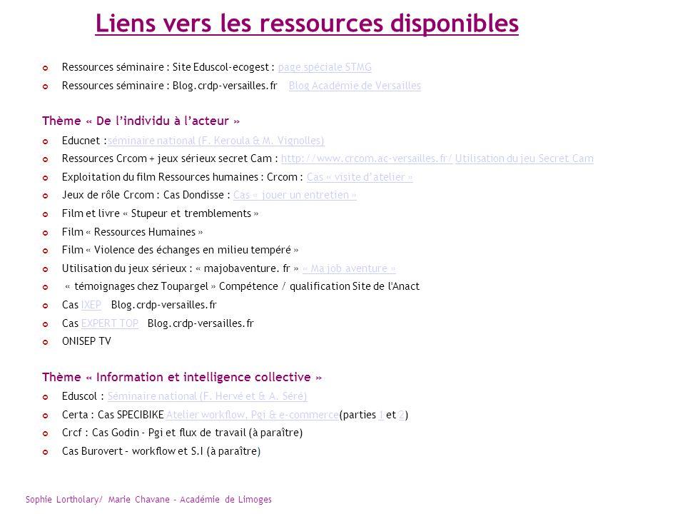 Liens vers les ressources disponibles Ressources séminaire : Site Eduscol-ecogest : page spéciale STMGpage spéciale STMG Ressources séminaire : Blog.c