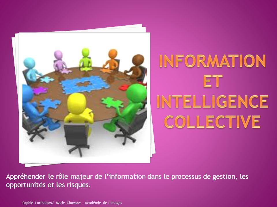 Appréhender le rôle majeur de linformation dans le processus de gestion, les opportunités et les risques.