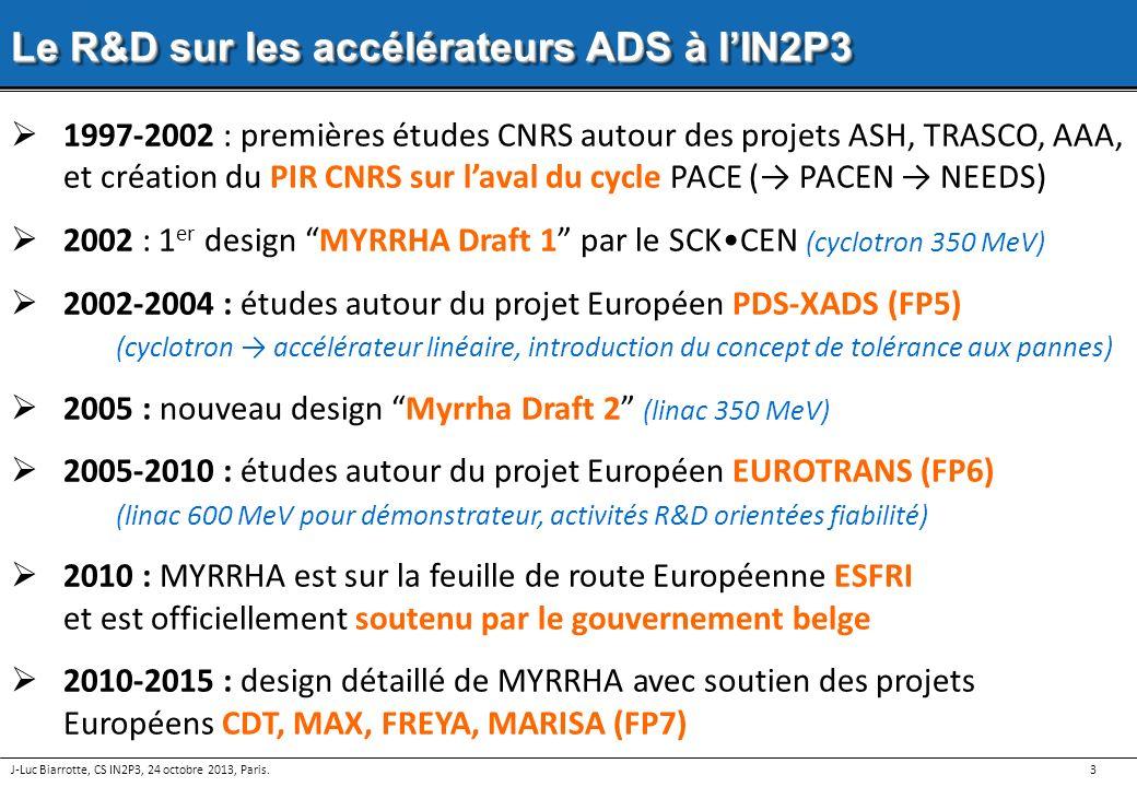 3 Le R&D sur les accélérateurs ADS à lIN2P3 1997-2002 : premières études CNRS autour des projets ASH, TRASCO, AAA, et création du PIR CNRS sur laval d