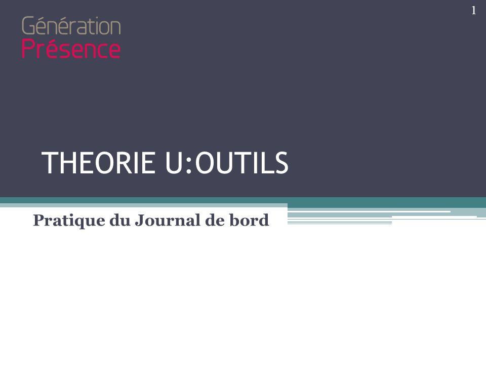 THEORIE U:OUTILS Pratique du Journal de bord 1