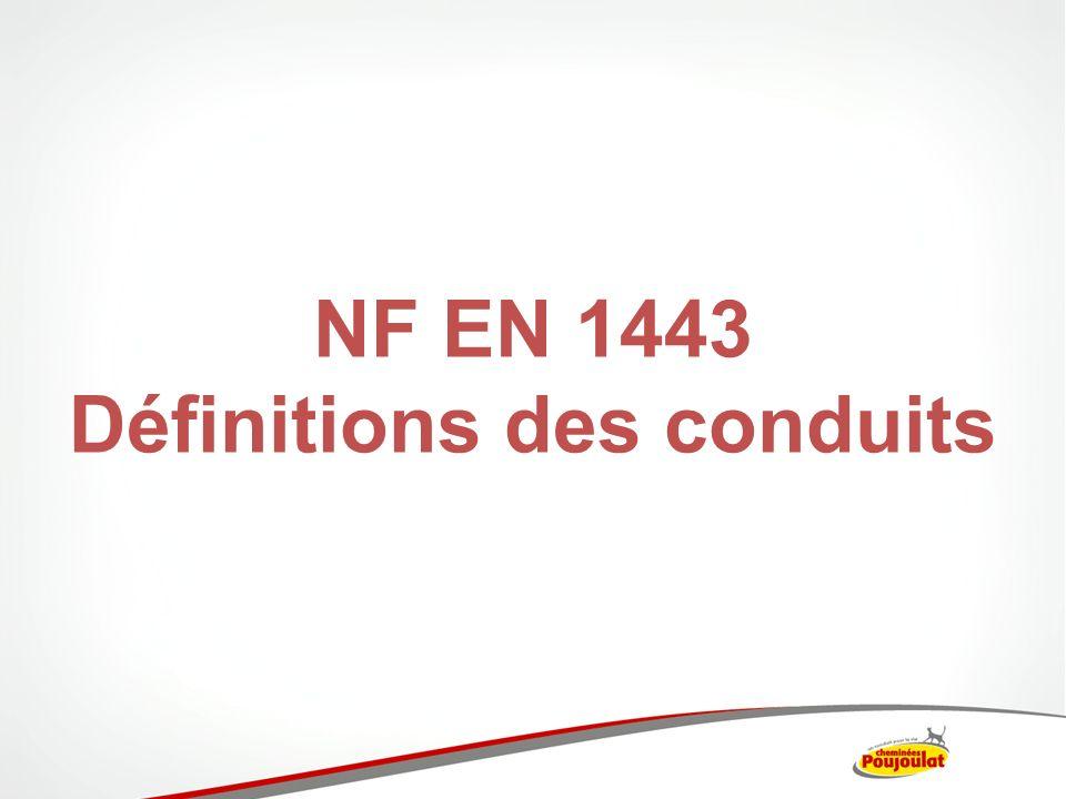 NF EN 1443 Définitions des conduits