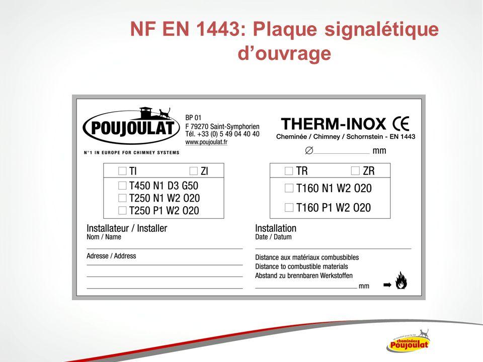 NF EN 1443: Plaque signalétique douvrage