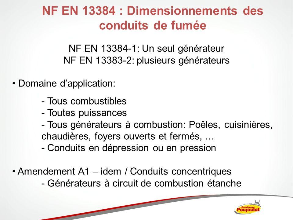 NF EN 13384: Logiciel de dimensionnement en ligne Logiciel « Cheminée POUJOULAT »
