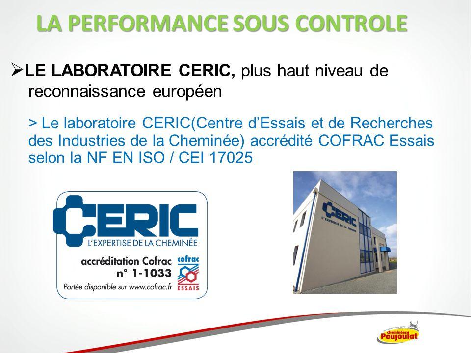 LE LABORATOIRE CERIC, plus haut niveau de reconnaissance européen > Le laboratoire CERIC(Centre dEssais et de Recherches des Industries de la Cheminée