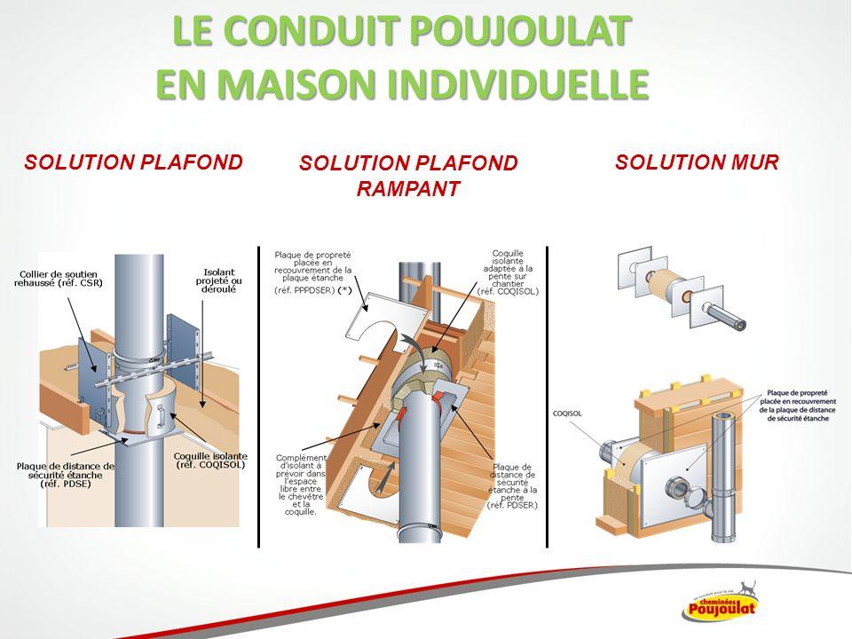 SOLUTION PLAFOND SOLUTION PLAFOND RAMPANT SOLUTION MUR LE CONDUIT POUJOULAT EN MAISON INDIVIDUELLE