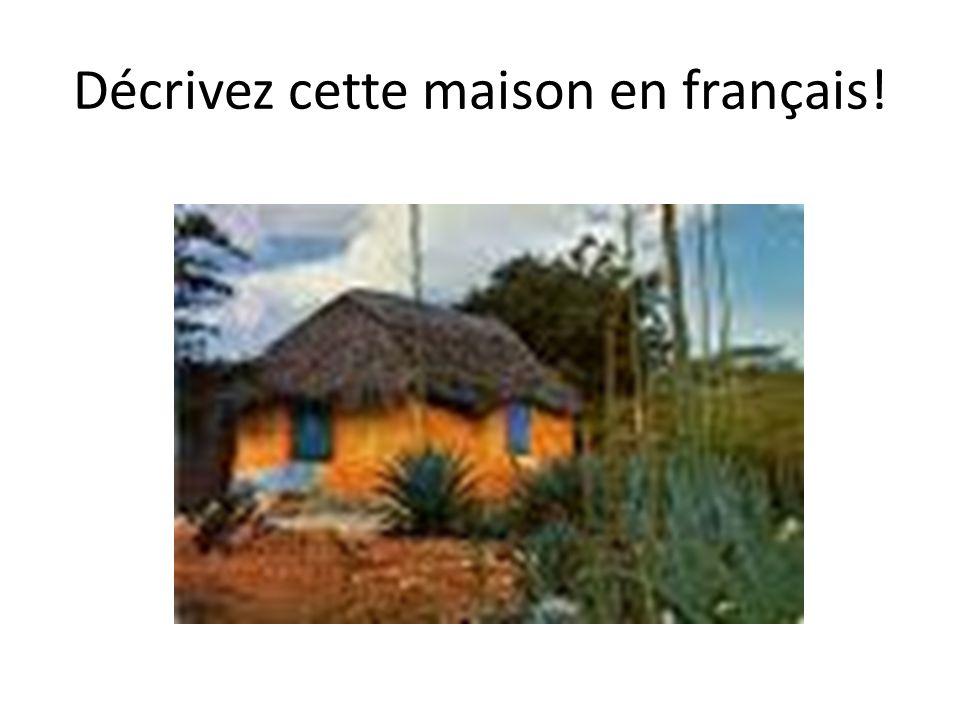 Décrivez cette maison en français!