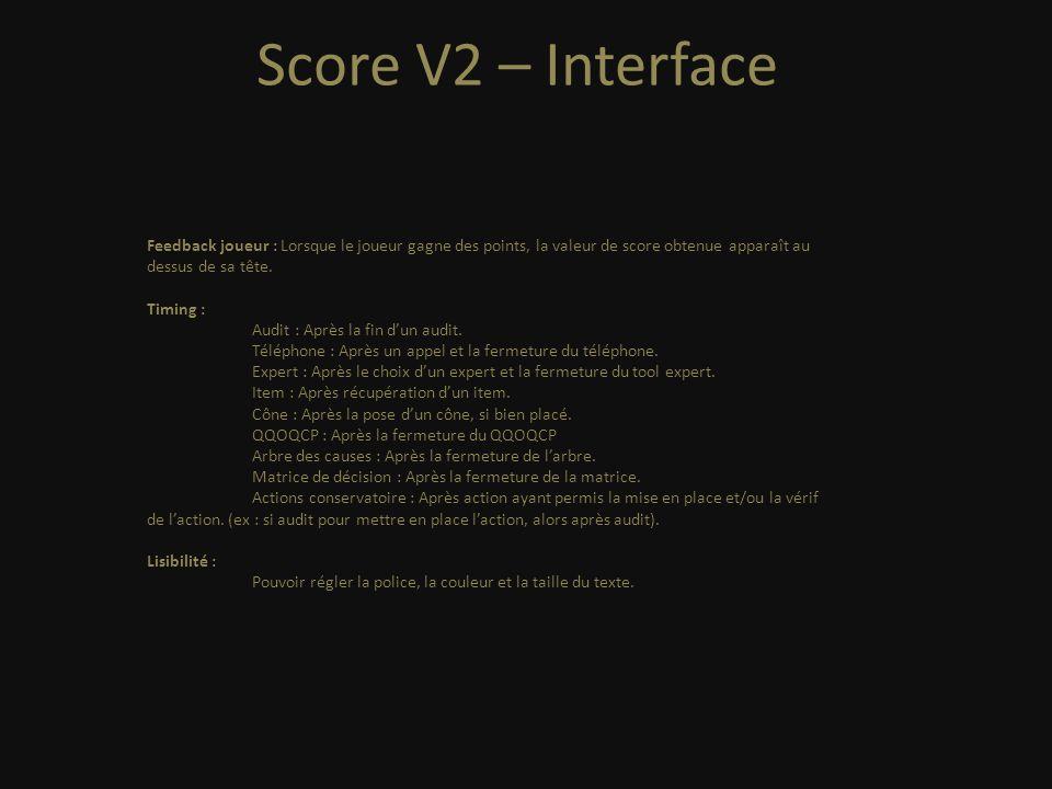 Score V2 - Interface +1000