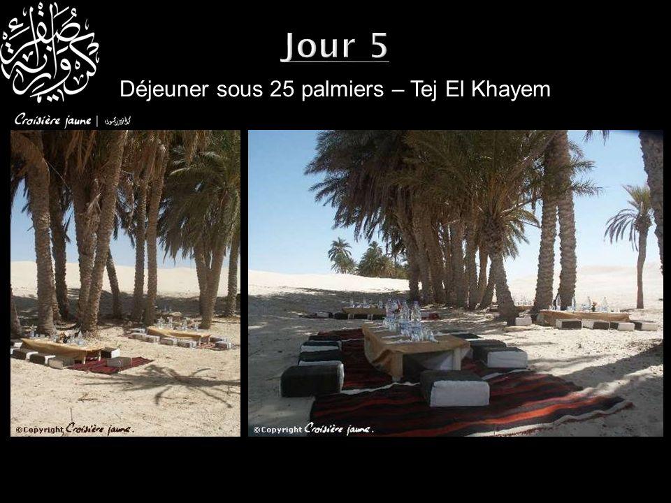 Déjeuner sous 25 palmiers – Tej El Khayem Jour 5