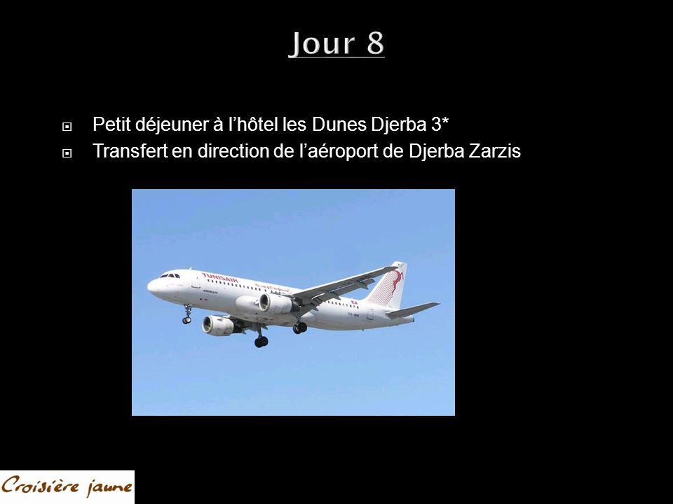 Jour 8 Petit déjeuner à lhôtel les Dunes Djerba 3* Transfert en direction de laéroport de Djerba Zarzis