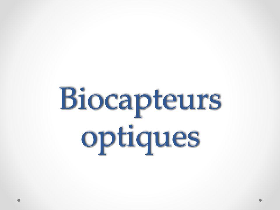 Biocapteur a base de florescences 1-Les biocapteurs basés sur Protéines auto (AFP) Dans le cas de biocapteurs basés sur un seul AFP, d événements de liaison de l analyte affectent directement ou indirectement à propriétés fluorescentes ou de formation, respectivement, de la partie chromophore de l AFP Fig..