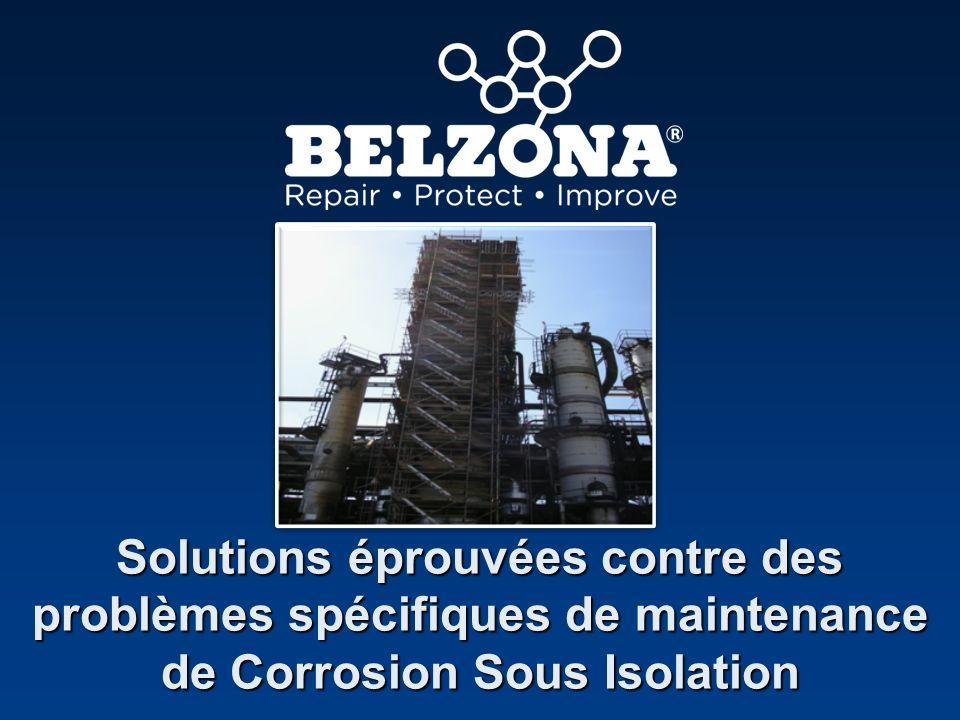 Client Problème Détails de lapplication Belzona protège des sphères de GNL Raffinerie, Royaume-Uni La pénétration de leau à travers lisolant a provoqué une importante corrosion sous isolation Il y a eu plusieurs essais avec des produits alternatifs, cependant, Belzona a été loption choisie.