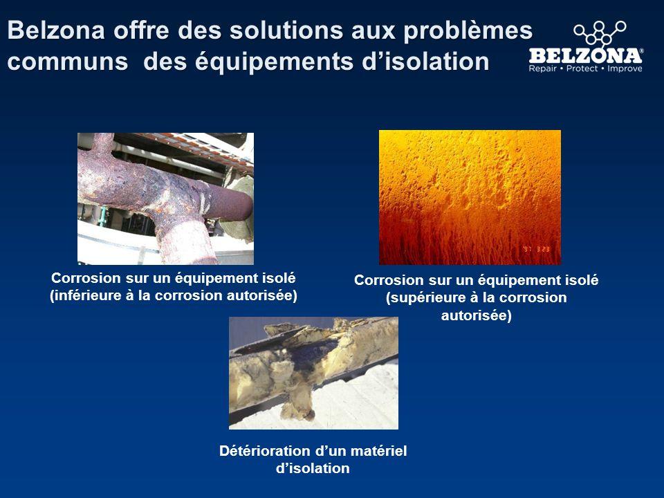 Client Problème Détails de lApplication Belzona 3211 dans un environnement rude Entreprise de Pétrole/Gaz, Ecosse Beaucoup de CSI à cause de la pénétration deau dans le revêtement métallique.