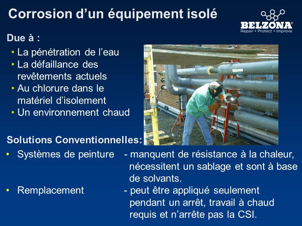 Client Problème Détails de lApplication Belzona effectue des réparations lorsque larrêt de la production doit être limité Une usine Géothermale aux Philippines Le revêtement de ce pilier est très corrodé.