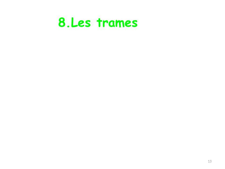 13 8.Les trames