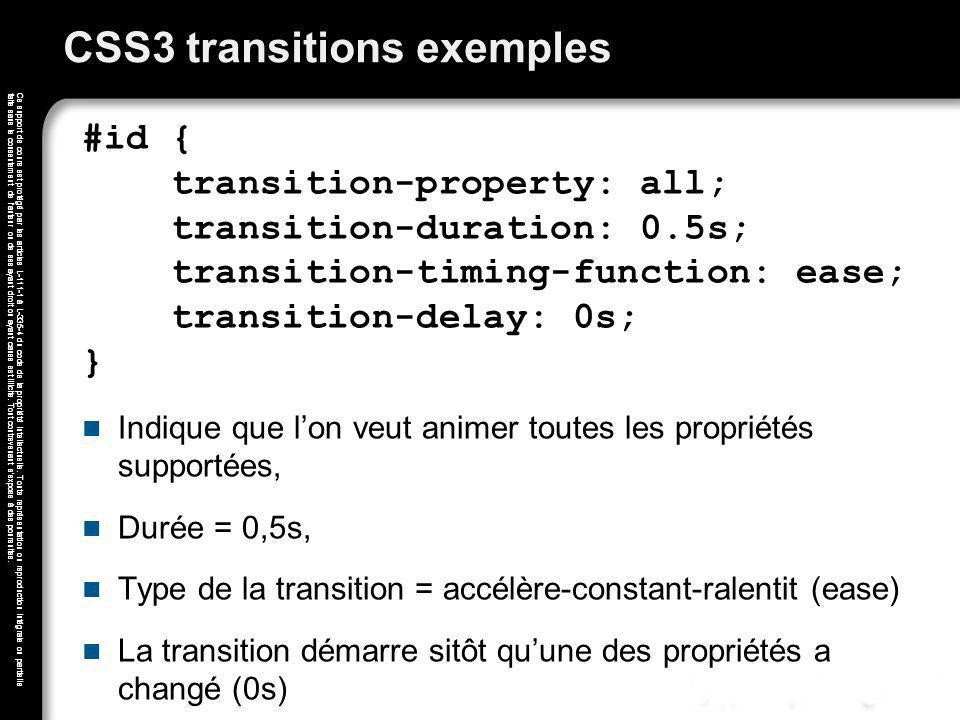 Ce support de cours est protégé par les articles L-111-1 à L-335-4 du code de la propriété intellectuelle. Toute représentation ou reproduction intégr